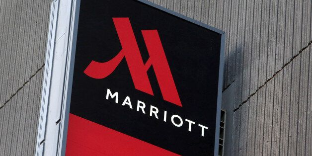 Signage for the New York Marriott Marquis is seen in Manhattan, New York, November 16, 2015. REUTERS/Andrew...