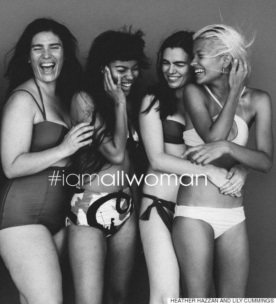 이 모델들은 '몸매, 피부색에 관계없이 모든 여성은 아름답다'고