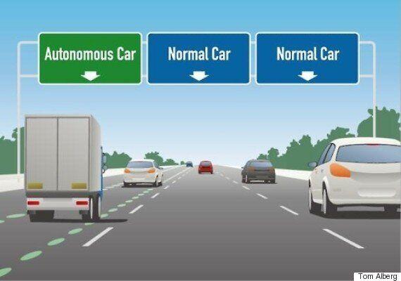 자율주행차의 미래에 대한 미국 기업인들의 보고서는 조금