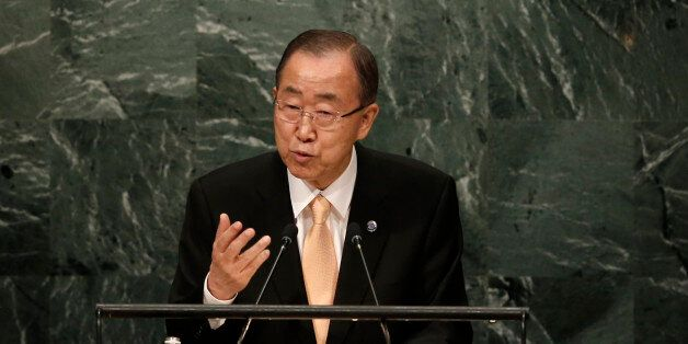 United Nations Secretary General Ban Ki-moon addresses the General Debate of the 71st Session of the...