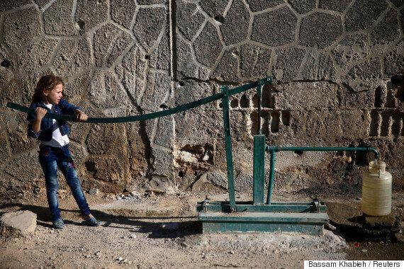 시리아 내전이 일주일 동안 불안한 잠정휴전에