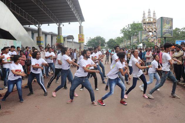 A flashmob in Bilaspur organised by