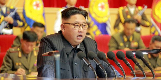 North Korean leader Kim Jong Un guides the 3rd Meeting of Activists of the Korean People's Army (KPA)...