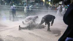 경찰 '물대포'에 쓰러진 백남기 농민이