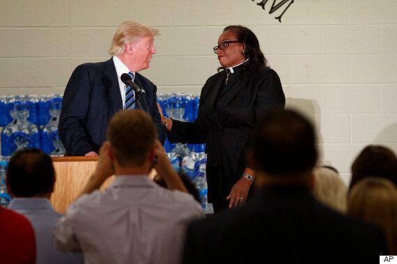 트럼프가 흑인교회 연설 도중