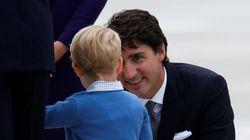 영국 조지 왕자가 캐나다 트뤼도 삼촌을