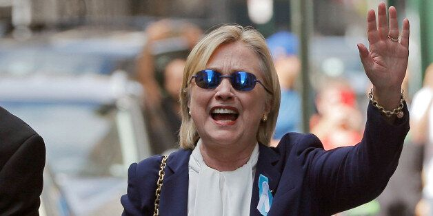 U.S. Democratic presidential candidate Hillary Clinton leaves her daughter Chelsea's home in New York,...