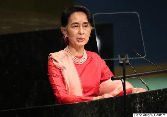 아웅산 수치가 유엔총회 연설에서 로힝야족 인권 개선을