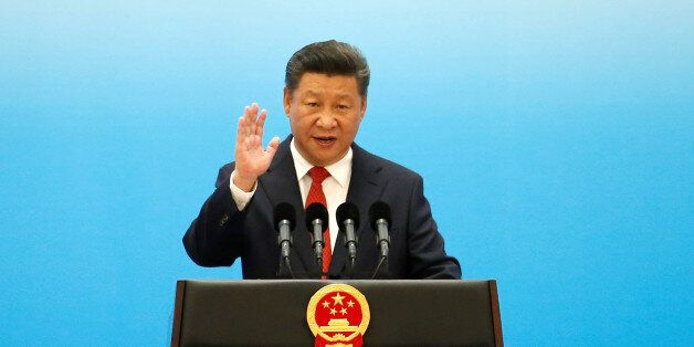 China's President Xi Jinping speaks during the opening ceremony of B20 Summit ahead of G20 Summit, in...