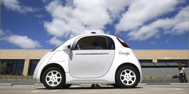 FILE - This May 13, 2015, file photo, shows Google's self-driving car during a demonstration at the Google...
