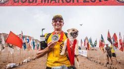 고비 사막 마라톤을 함께 달린 후 실종됐던 개가 드디어 주인과