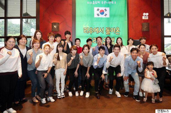 '장미란재단'이 리우올림픽 선수와 지원단을 모두 초청해 파티를