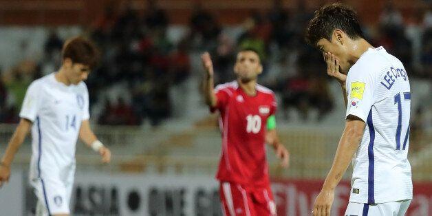 시리아와의 경기 후 기성용과 구자철, 이청용이 아쉬움을