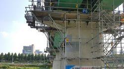 서울메트로 2호선 철교 공사를 하던 20대 작업자가 떨어져