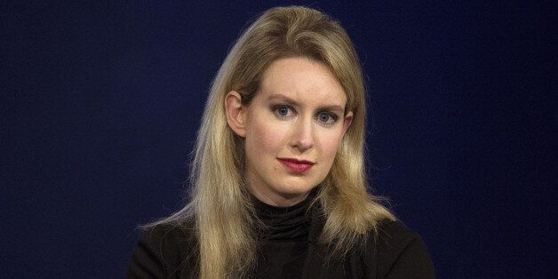 FILE PHOTO -- Elizabeth Holmes, CEO of Theranos, attends a panel discussion during the Clinton Global...