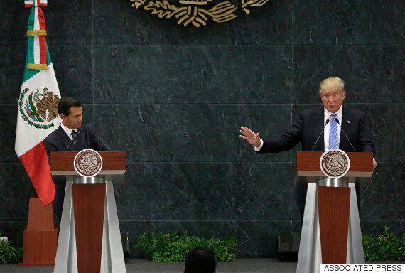 멕시코를 전격 방문한 트럼프가 멕시코 대통령 면전에서 장벽을 세우겠다고
