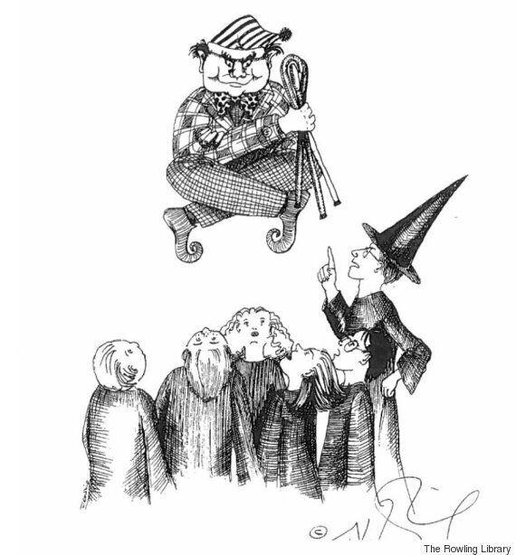 JK 롤링이 그린 해리포터의 초기 스케치가