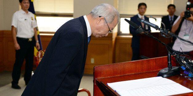 양승태 대법원장이 '부장판사 뇌물구속'에 대해 대국민 사과문을 발표했다