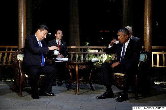 시진핑은 오바마와의 회담에서