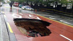 부산에서 발생한 대형 싱크홀 지하에는 KTX가 지나고 있어 안전사고가