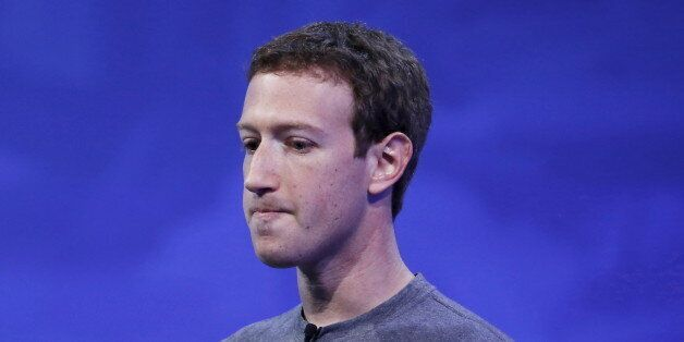Facebook CEO Mark Zuckerberg speaks on stage during the Facebook F8 conference in San Francisco, California...