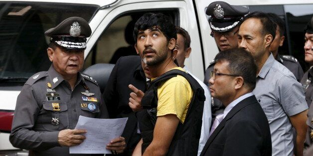 A suspect of the August 17 Bangkok blast who was arrested last week near the border with Cambodia takes...