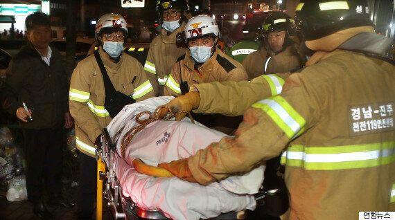 건물 붕괴사고로 매몰된 3명 중 1명의 생존이