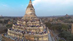 미얀마의 규모 6.8 지진으로 불교유적이