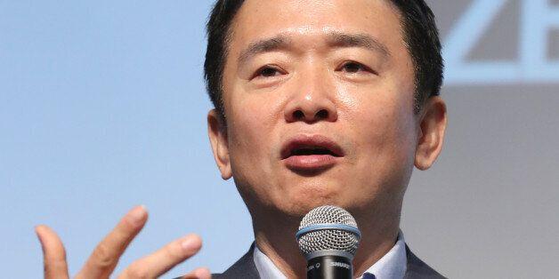 남경필 경기지사가 5일 오전 서울 중구 더플라자호텔에서 열린 미래창조한반도포럼 조찬강연에서 '대한민국 리빌딩'을 주제로 강연을 하고