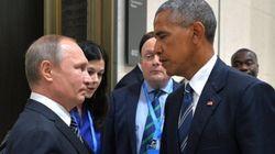 오바마와 푸틴의 눈빛 교환에 인터넷에서 '포토샵 전쟁'이 벌어졌다