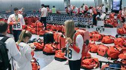 영국 올림픽 대표팀이 공항에서 당황한