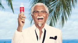 KFC가 치킨 향 선크림을 공개했고, 하루 만에