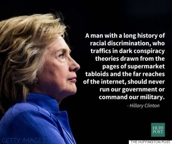 힐러리 클린턴이 백인우월주의를 주류로 끌어들인 도널드 트럼프를