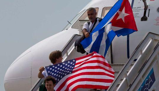 [화보] 55년 만에 미국-쿠바 노선이