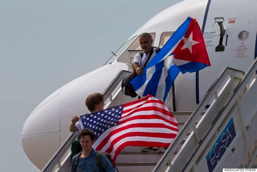 [화보] 55년 만에 처음으로 미국 민항기 정기노선이 쿠바에