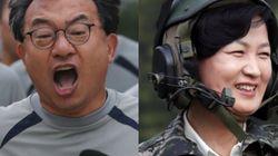 새누리와 더민주의 당 대표가 군부대를 방문한