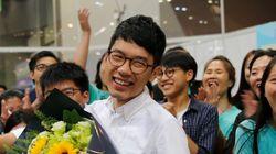 홍콩 '우산혁명' 지도자가 의회에