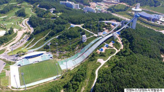 평창동계올림픽 스키점프 경기장이 축구장으로 변신했다