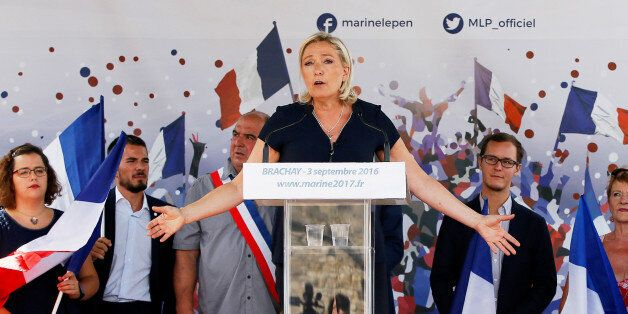 Marine Le Pen, French National Front (FN) political party leader and a member of the European Parliament,...