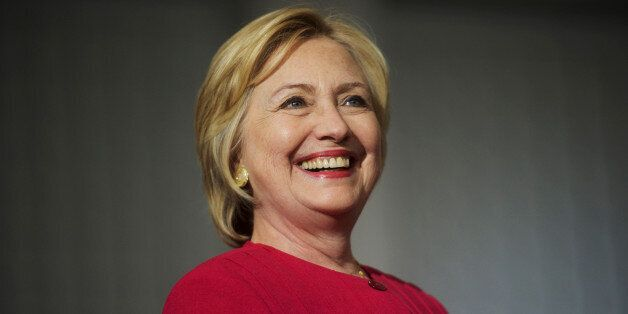 Democratic Presidential nominee Hillary Clinton holds a rally at West Philadelphia High School in Philadelphia,...