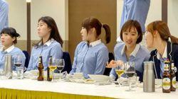 여자배구 대표팀이 '공개적인' 회식을