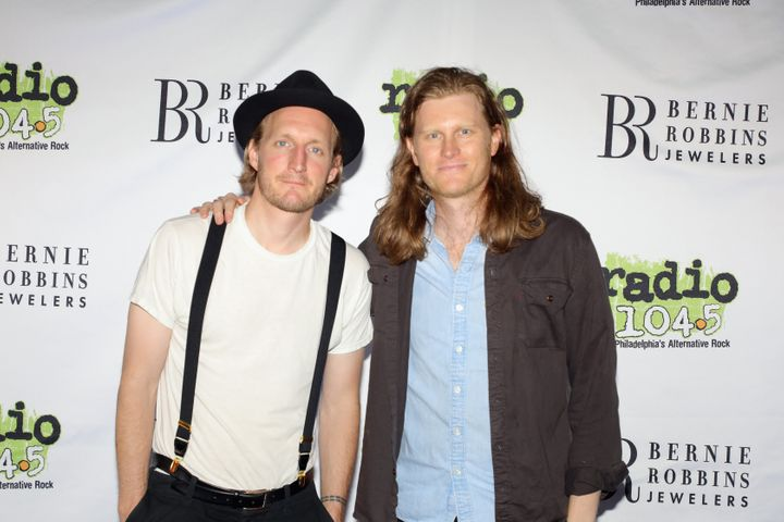 (L-R) Jeremiah Fraites and Wesley Schultz of The Lumineers pose at the Radio 104.5 12th Birthday Celebration June 2, 2019 at