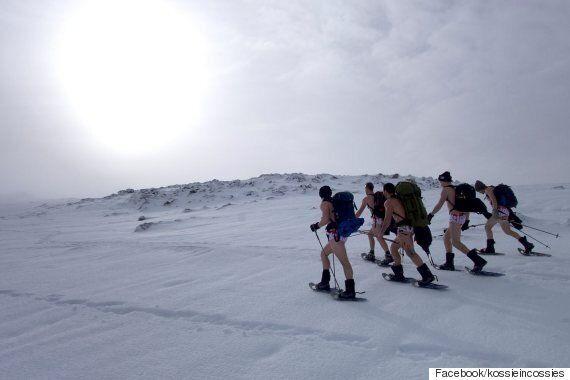 이 남자들은 겨울에 수영복만 입고 호주에서 가장 높은 산을