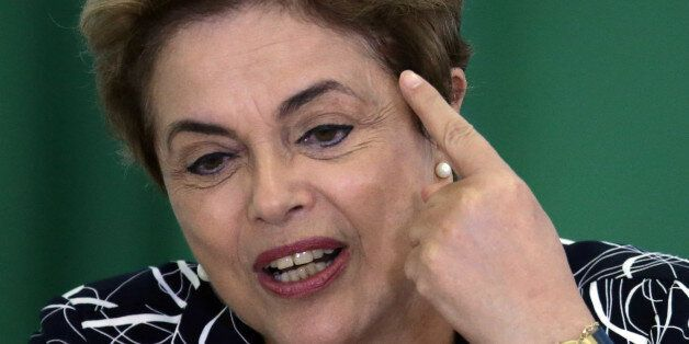 Brazil's President Dilma Rousseff announces an addition to the government subsidized housing program