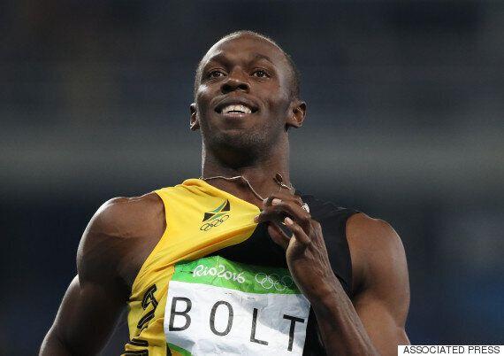 우사인 볼트가 아무도 해내지 못했던 올림픽 3회 연속 3관왕을 달성하다