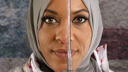 히잡을 쓴 이 선수는 '미국 최고의 모습'을 대표하며, 강력하고