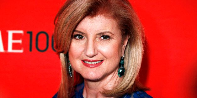 Arianna Huffington arrives at the Time 100 Gala in New York, April 24, 2012. The Time 100 is an annual...