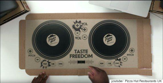피자헛이 DJ를 위한 피자박스를