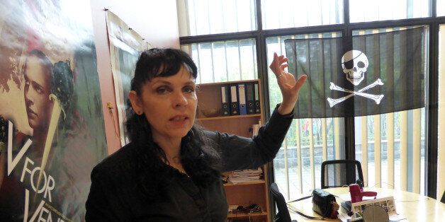 Leader of the Pirate Party of Iceland Birgitta Jonsdottir, poses for a picture at the party's office...
