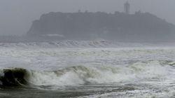 9호 태풍 민들레의 북상으로 일본에서 결항이 이어지고